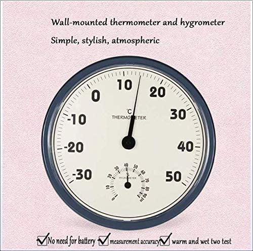 Indoor Outdoor Thermometer Analogue Thermo Hygrometer 2 in 1 Large ...