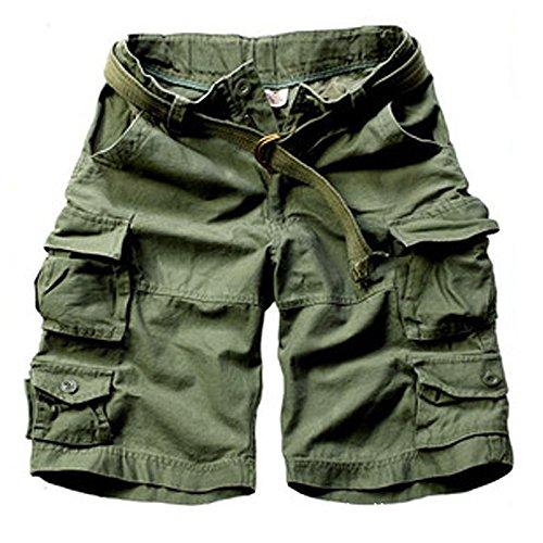 WDDGPZDK Strand Shorts/Sommer Mode Militär Cargo Shorts Men Baumwolle Lässiger  Herren Shorts