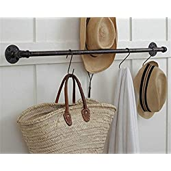 Industrial Pipe Clothing Rack Garment Rack Industrial Age Steampunk (47'')