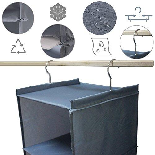 Senior Shop 4-Tier Hanging Closet Organizer, Collapsible Closet Hanging Shelf (gray) by Senior Shop (Image #3)