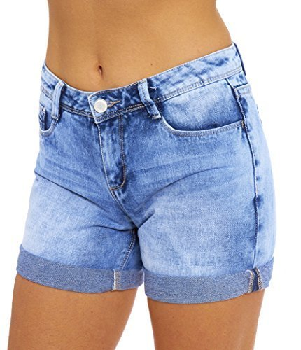 SS7 Women's Denim Turn Up Shorts, Sizes 8 to 16