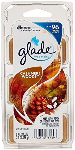 Glade Wax Melts Air Freshener Refill - Cashmere Woods - 2.3