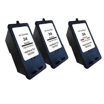 Compatible LEXMARK 34 35 Cartucho de Tinta para Lexmark X2500 ...