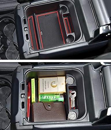 Per Discovery 4(Without Refrigerator)Storage Box Braccioli Con Tappetino Antiscivolo Scatola del Bracciolo Vano Portaoggetti Secondario da Bracciolo