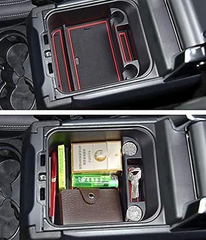 F/ür Velar Aufbewahrungsbox Organizer Armlehne Mittelkonsole Handschuhfach Mit Rutschhemmender Matte Innen Auto Zubeh/ör