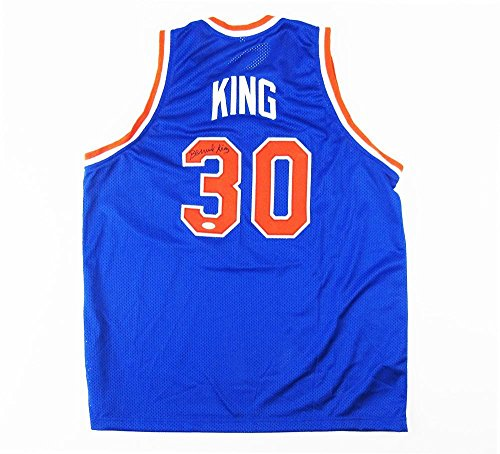 Bernard-King-Signed-New-York-Knicks-NBA-Blue-Custom-Jersey-Autographed-NBA-Jerseys