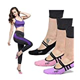 Grip Sock Anti-Skid Yoga Socks Pilates Ballet Socks Women's Barre Sock 2 Pair