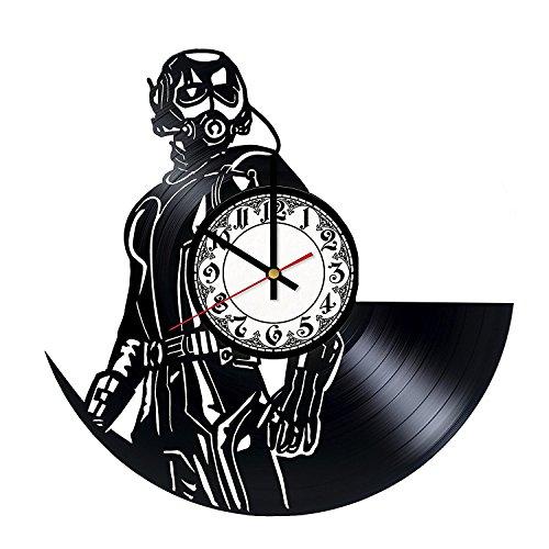 Superhero Figures Vinyl Record Wall Clock - Get unique bedroom wall decor - Gift ideas for friends, boys - Comics Unique Art Design