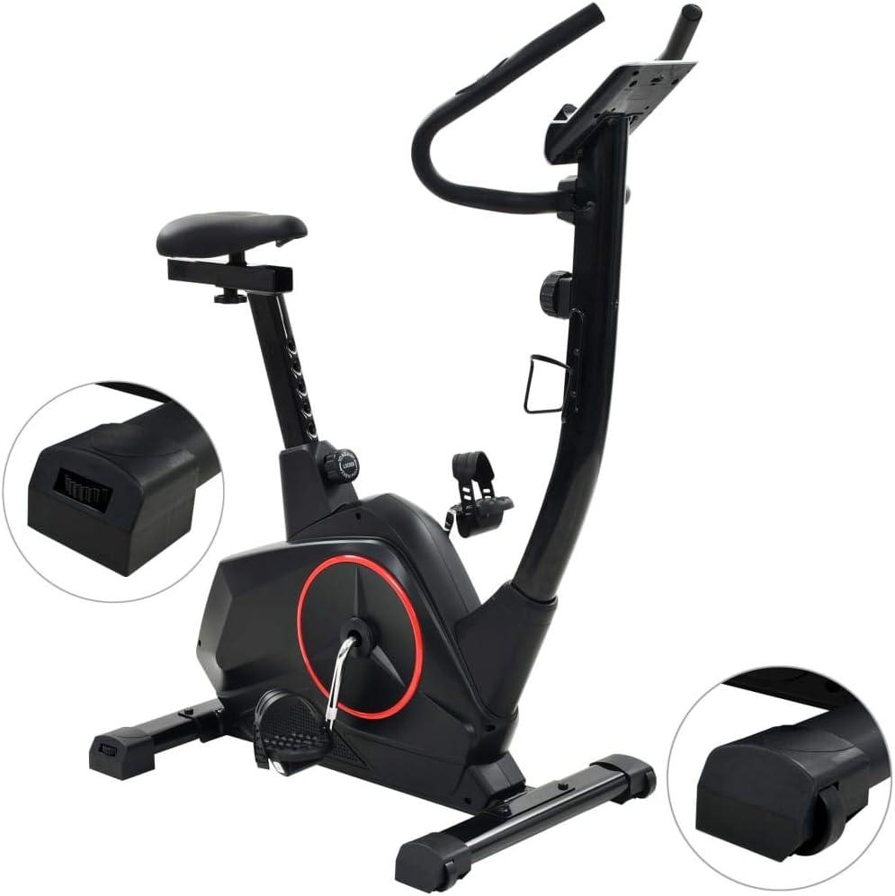 Tidyard Bicicleta Estática con Pantalla LCD y un Soporte para Tablet de Diseñada Ergonómicamente con 8 Niveles de Resistencia: Amazon.es: Hogar