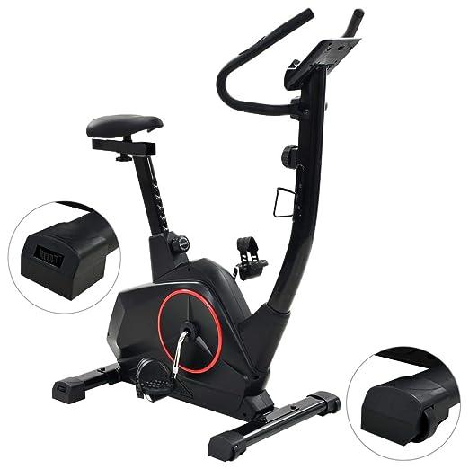 tidyard Bicicleta Estática con Pantalla LCD y un Soporte para ...