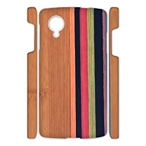 Canting_Good Simple Stripes Wood Custom Case Cover Shell for Google Nexus 5 3D