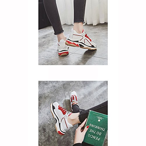SHOES xiaolin Zapatos Ultra Fuego Zapatos Deportivos Zapatos de Mujer Rojo