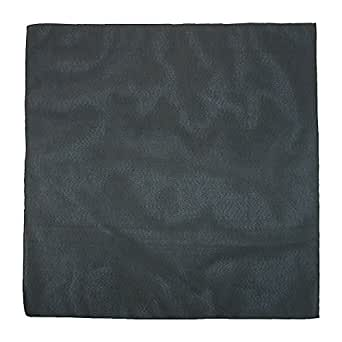 CTM Individually Folded and Packaged Solid Color Cotton Bandana, Black