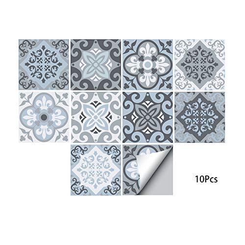 (Alwayspon Waterproof Vinyl Wall Tiles Sticker for Home Decor, Self-Adhesive Peel and Stick Backsplash Tile Decals for Kitchen Bathroom Decor, 6x6inch 10 Pcs)