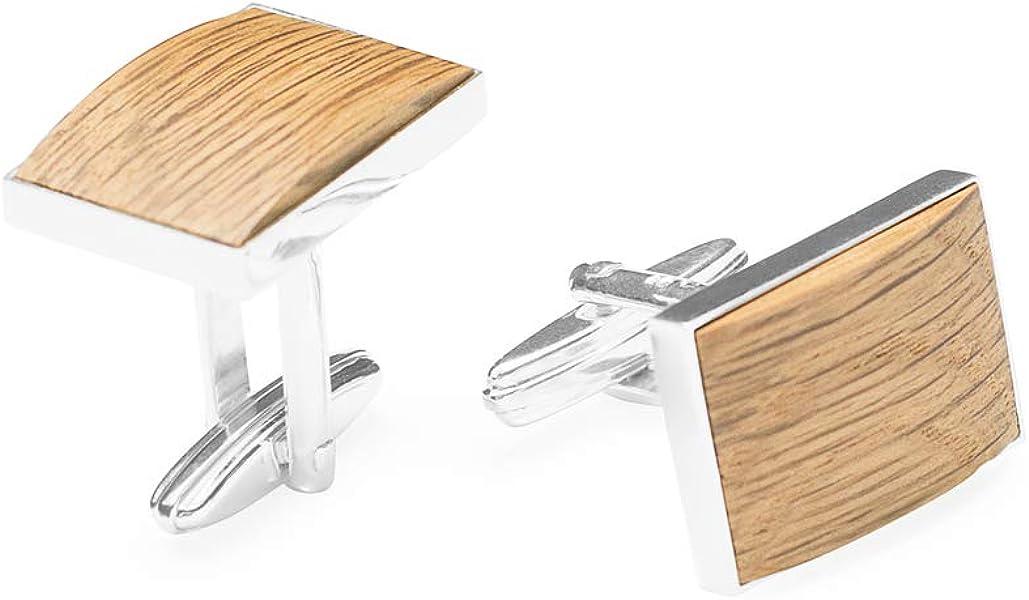 Einzigartiges Design Hergestellt im Herzen Europas BeWooden Manschettenkn/öpfe Handgefertigt   Modell Lini