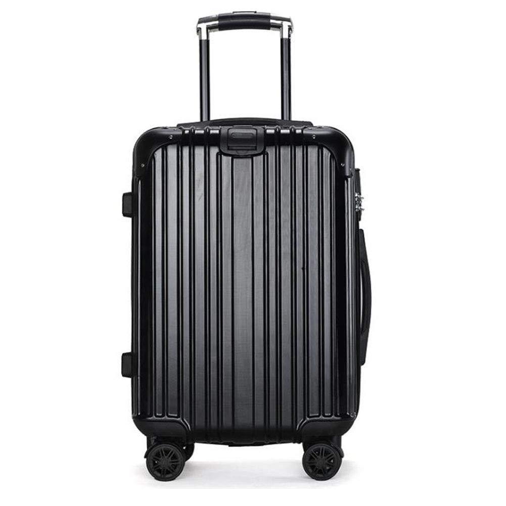 旅行ケース、大容量スーツケース、持ち運び式荷物、純アルミ、回転プーリー,Black,24 24 Black B07MHN291H