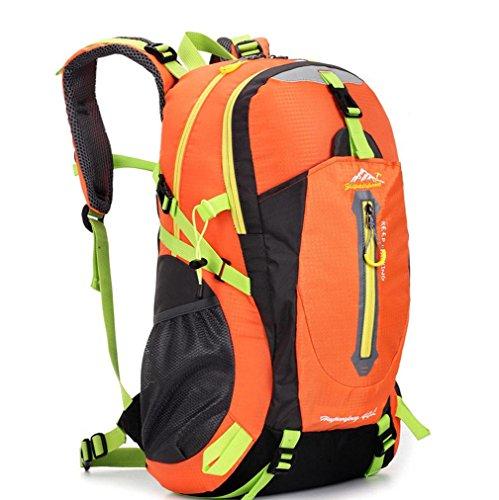 Del Alpinismo De Impermeable Nylon Orange Viajes Green Unisex Placer Mochila Hombros Aire Busl Libre Al q8zYYIt
