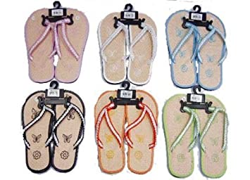 ffab20edc Image Unavailable. Image not available for. Color  Eros Hosiery  6049B-BUTTERFLY Wholesale Women s Bamboo Butterfly Flip Flops Case Of 72