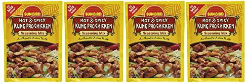 Sun-Bird HOT & SPICY KUNG PAO CHICKEN Asian Seasoning Mix, .87oz - Asian Place Bird