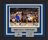 "Steph Curry v. Kobe Bryant 8"" x 10"" Basketball Framed and Matted Photo with Engraved Autographs"