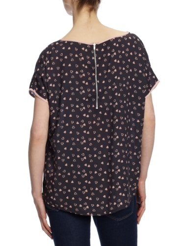 Only - Camiseta de manga corta para mujer Gris (Ebony)