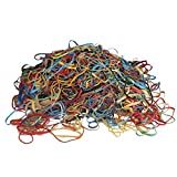 Alliance Rubber Bands, Assorted Large, Medium, Small Sizes & Thickness, Assorted Colored Elastic Bands (2 Pounds)