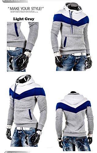 (Chariot Trading - Winter&Autumn Men's Fashion Brand Hoodies Sweatshirts ,Casual Sports Male Hooded Jackets (COLOR :LIGHT GRAY | SIZE : XL))