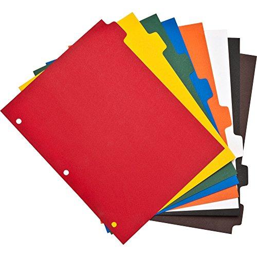 Business Source Plain Tab Color Polyethylene Index Dividers