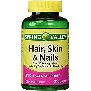 Amazon.com: Spring Valley - Hair, Skin & Nails, Biotin-Collagen ...