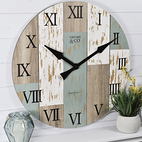 FirsTime & Co. FirsTime Timberworks Wall Clock, 27 in. in, Multicolored Wood