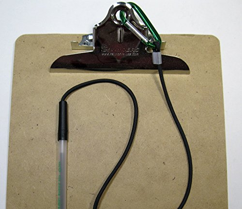 24 Inch Pen Leash Carabiner Attaches To Clipboard Or