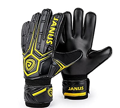 JYH Professional Adult & Youth Latex Soccer Goalkeeper Gloves,Strong Grip Finger Protection Football Goalie Goal keeper,With Finger Spines to Prevent Injuries