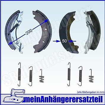 Bremsbacken-Satz f/ür KNOTT 200x50 ORIGINAL 20 2425//1