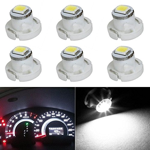Partsam 6x 6000K White T4.2 Neo Wedge LED Bulb Instrument A/C Climate Heater Base Lights For Honda Accord Civic Odyssey