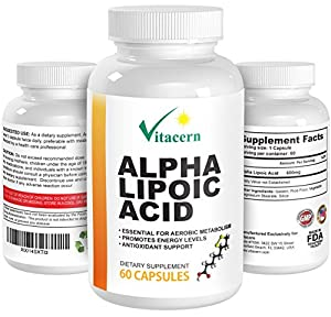 Alpha Lipoic Acid (ALA) 600mg – Best Antioxidant complex supplement formula with Vitamins. Provides Antioxidant Protection and Nutrition.Promote Energy Levels. Defense against free radicals!