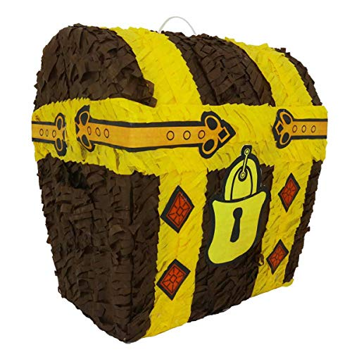 Aurabeam Original Classic Hand Craft Treasure Chest Party Pinata - Hand made in Mexico