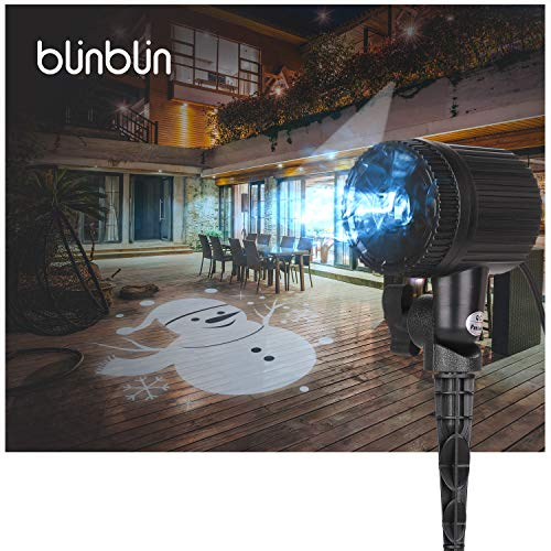 Blinblin Christmas LED Light Projector, Waterproof Outdoor Indoor Party Decorations Landscape Snowman Lights for Halloween Easter Birthday Garden Party (CPS-L101) -