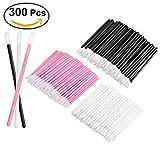Frcolor 300 Pieces Disposable Lip Brushes Lipstick Lip Gloss Applicator Makeup Brushes Tool Kits