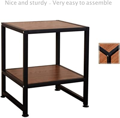 2 Shelf Side End Coffee Square Sofa Table Laptop Stand PC Desk Study TV  Snack Solid