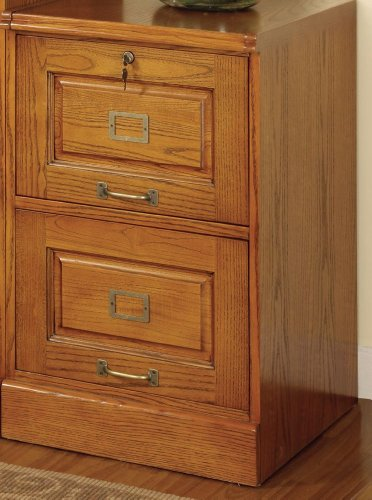 Palmetto Oak File Cabinet w/ 2 Drawers by Coaster Home Furnishings