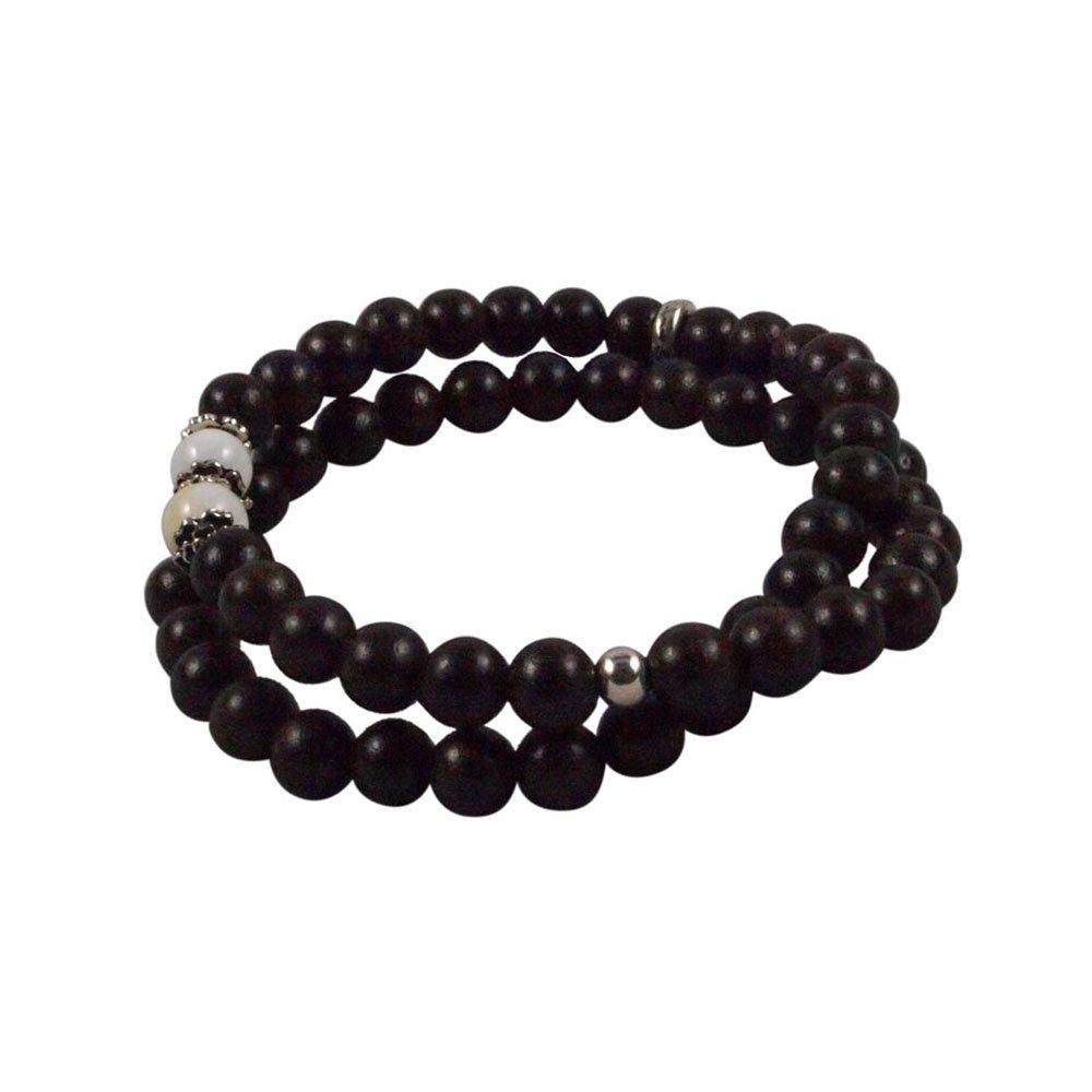 Agar Creations - Tibetan Buddhist Mala Bracelet - Tridacna and Agarwood 52-Bead Bracelet - Spiritual, Meditation by Agar Creations (Image #1)
