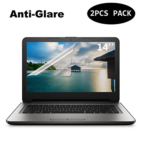 "[2 PACK] FORITO 14"" Anti Glare Anti Scratch laptop Screen Protector for HP/DELL/Asus/Acer/Sony/Samsung/Lenovo/Toshiba, Display 16:9 (Glare Anti Universal Fit)"