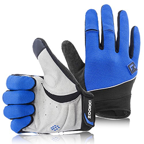Zookki Work Gloves,Full finger-Blue,M(6.7inches-7.9inches) ()