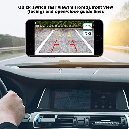 FHD Digital Wireless Licence Plate Camera for Cars,SUVs,Trailers,Trucks etc All Vehicle,170° View Angle Rear/Front View Camera with Universal License Plate Frame,Guide Lines ON/Off, IP69K Waterproof