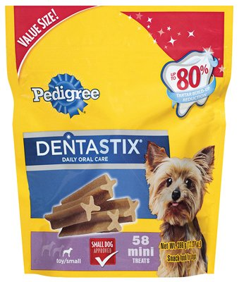 Mars Petcare Us 10162387 Dog Treats, Dentastix, For Small/Toy Dogs, 58-Ct. - Quantity 4 by Mars Petcare Us