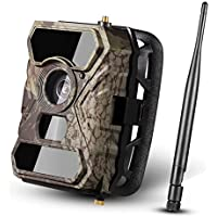 [ 2017 NEW ] Trail Game Camera with Night Vision Ancheer 110°Wide PIR Angle 12MP 1080P 30fps 0.4s Trigger Time No Glow Wildlife Camera with 56pcs Infrared LEDs and Time Lapse