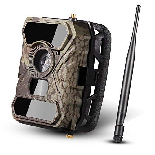 [2017 New] Wireless Trail Camera Ancheer 3G GPRSMMSSMS Game Wildlife Camera 0.4s Trigger Time HD 12MP 56pcs IR LEDs and Infrared Night Vision 100FOV 110 PIR Angle with Time Lapse
