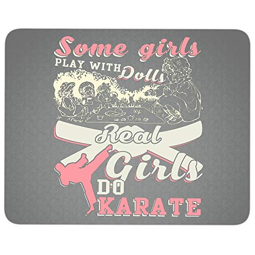 Cool Karate Girl Premium-Textured Mouse pad, Real Girls Do Karate Mouse Pad for Home, Office, Game, Computer, Laptop (Mouse Pad - Dark -