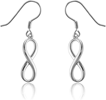 Dangle Earring Overall Length 1. 925 Sterling Silver Infinity Figure of 8 Drop