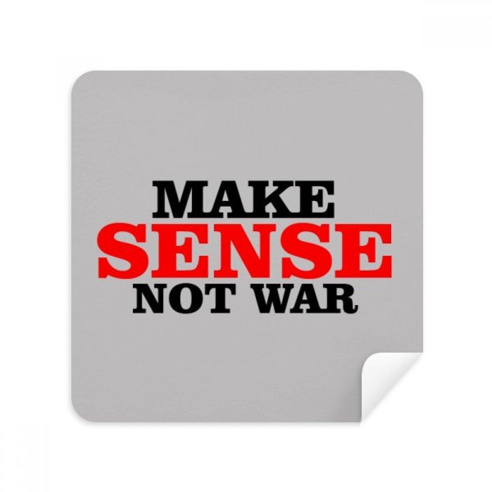 Love Peace World Make Sense Not Warメガネクリーニングクロス電話画面クリーナースエードファブリック2pcs   B07C96M9KD